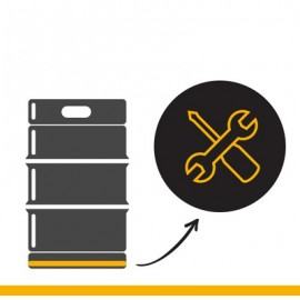 KEG Service: Fussringreparatur bei Edelstahlkeg