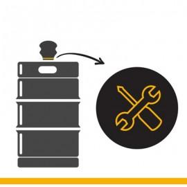 KEG Service: Kopfringreparatur bei Edelstahlkeg