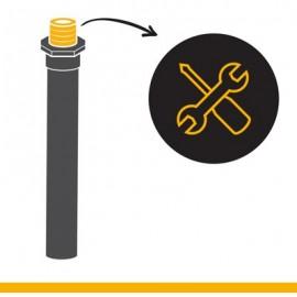 Keg Service: neck repairment on a steel keg